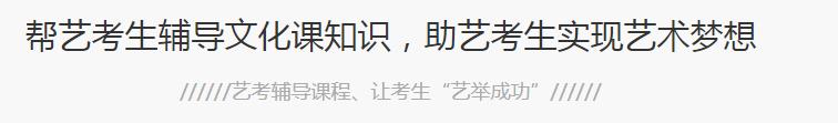 东莞高考艺考文化课冲分
